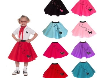 SMALL Child (4-6) 50's POODLE SKIRT
