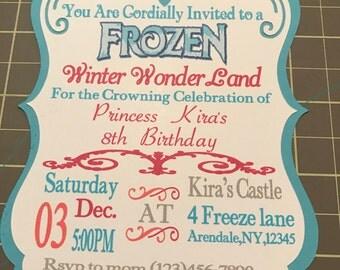 Frozen Invitation (Set of 12)