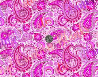 Pink Paisley Pattern Vinyl, HTV and Outdoor Vinyl, Paisley HTV, Pink Paisley