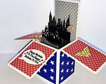Wonder Woman Pop-up Card (customizable)