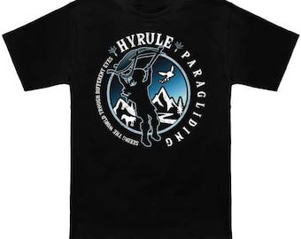 Hyrule Paragliding LEGEND OF ZELDA Breath of the Wild T-Shirt Link Hyrule Nerd Pop Culture Nintendo Switch Nes Shirt