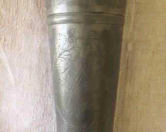 Antique German Trophy Pewter