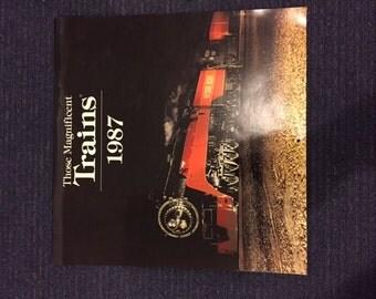 Vintage Trains Calendar with full color photos