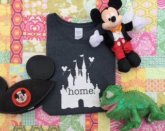 Disney Home Shirt, Cinderella's Castle Shirt, Walt Disney World Shirt, Castle Shirt, Home Shirt