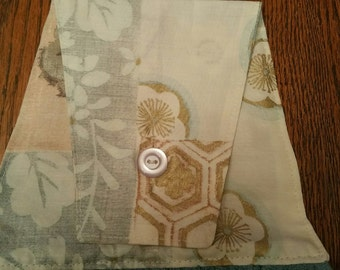 Pretty teal and brown hanging kitchen towel