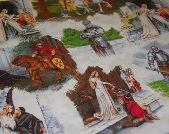 Knights Fabric Game of Thrones Inspired Camelot Fabric Cream Shields Through the Ages - CT118460 100 Percent Cotton Yardage