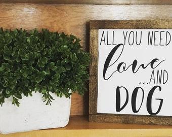 Love and a Dog Framed
