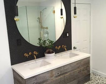 Bathroom Vanity Etsy french country bathroom vanity and sink with matching mirror