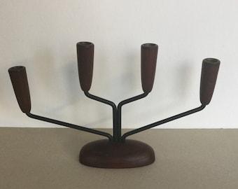 Reserviert!!! Mid Century  Kerzenständer aus Teak im String Design