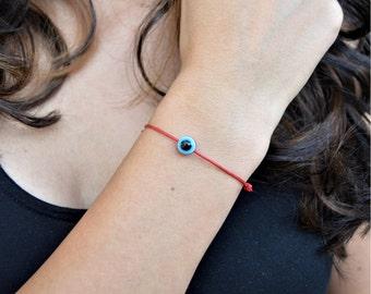 Evil Eye Thread Bracelet, Evil Eye Bracelets for Women, Bracelets with Evil Eye, Good Luck Bracelets for Women, Red String Bracelet, Gift