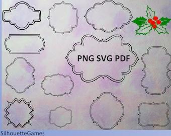 Digital border Frames, Instant Download Clipart Frame, Black Frames , Vector frames, SVG, PNG, PDF