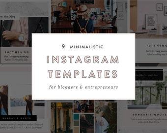 9 Minimalistic Instagram Templates for Bloggers + Entrepreneurs