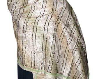 Vintage Kantha Silk Scarve Reversible Round Kantha Stitched Neck Wrap 98