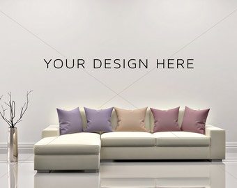 Blank Wall Mockup/Styled Stock Photography/Mock-up/ Sofa mockup/Couch Mock up/Artwork Mock upPoster Mockup/ Print Background/Modern Mockup