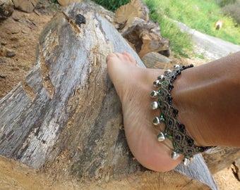 Gypsy macrame anklet, macrame anklet ethnic style