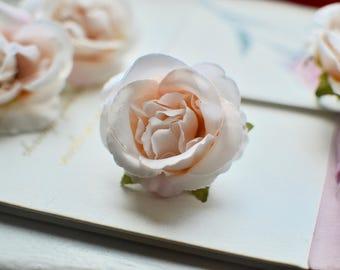 Silk flower I Wedding flower I Millinery flower I Rose flower head I Artificial flower I Silk rose I Pink silk flower I Hair flower I Rose