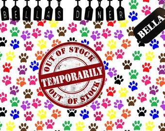 Dog or Cat Pet Mat Custom made with your Pet's Name