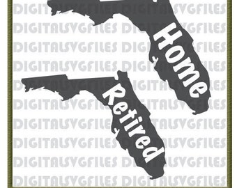 Florida State svg File, States Florida Home, Florida Retired svg, Florida svg, Florida Vector File, Florida State Vector Cutting Files
