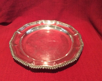 "Atkin Brothers EPNS Electro Plated Nickel Silver Tray 10"" diameter circa 1900"