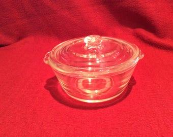 Phoenix Clear Glass Casserole Dish 8oz circa 1960