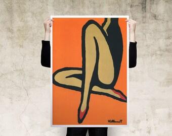 Bally Orange Art Print