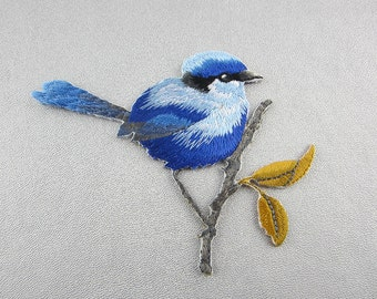 Embroidered Iron On Patch Birds Appliques
