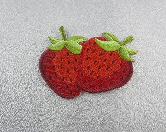 Embroidery Red Strawberry Iron On Patch
