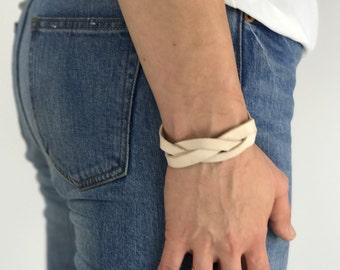 Everyday bracelet / Simple bracelet / Braided leather bracelet for women / Boho bracelet / everyday simple bracelets / summer bracelet