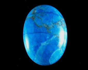 Blue Mexican Turquoise Oval Shape Loose Gemstone Cabochon Jewelry Making Semi Precious Gemstone 32X23X7mm 42Cts B-3805