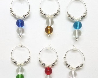 6 Wine glass Charms,  Morocco Style Wine Charms, Hostess Gift, Wine Lover Gift, Wine Accessories, Wine Charm Luxury