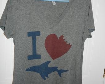 I love sharks! -T-shirt - XXL