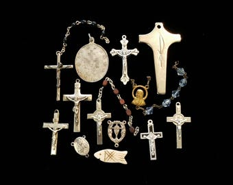 Vintage religious charms lot #2