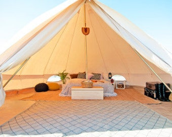 Canvas Bell Tent 16 ft round Festival Tent-Yurt-Bohemian Style-Garden style-hipster-boho chic,weddings