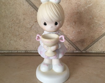 Vintage Precious Moments Little Girl Figurine - You are my # 1 - Enesco 520829 C.1988 - Trophy motivational inspirational collectible