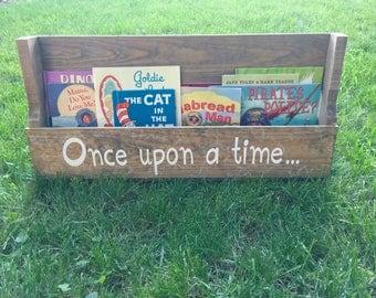 Kids Bookshelf, Wood Bookshelf, Rustic Bookshelf, Hanging Bookshelf, Wall Bookshelf, Wall Mounted Bookshelf, Pallet Bookshelf