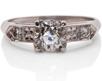 Art Deco Engagement Ring from 1920s with a Sweet Story | Art Deco Engagement Ring | Antique Diamond Ring | Platinum Engagement Ring