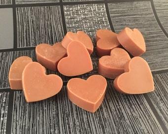 Fudge Brownie Wax Melts, Mini Wax Melts, Mini Soy Wax Melts, Soy Wax Melts, Scented Wax Melts, Heart Shaped Melts, Home Fragrance