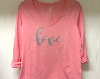 LOVE l relaxed fit women's long sleeve T