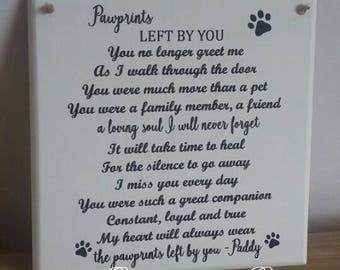 Personalised Pet Remembrance Plaque, pet memorial plaque