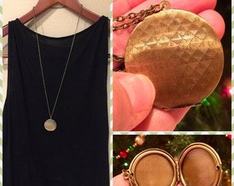 Brass Photo Locket, Birthday Present for her, Push Present, Valentine's day present, mother's day present