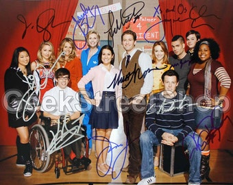 Glee / Cast Signed 8x10 Autograph RP - Great Gift Idea - Ready to Frame and Display
