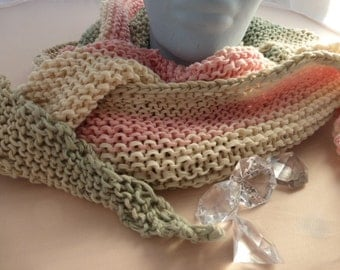 Scarf, Sommerschal, cotton scarf, asymmetrical shawl, lace pattern, handknit cloth, scarf, summer,