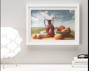 Milk & Butter Art Kitchen Home Decor High Quality Giclee Prints on Canvas