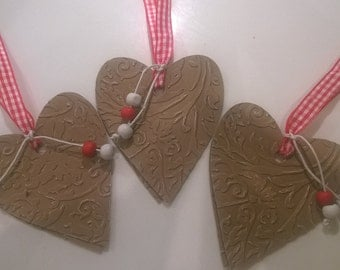 Valentines gift tags/Double heart gift tags/Valentines heart gift tags/Cottage chic gift tags