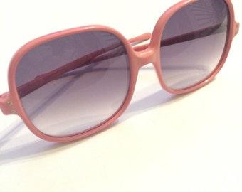 B. Robinson Sunglasses - Solid Pink (1970s)
