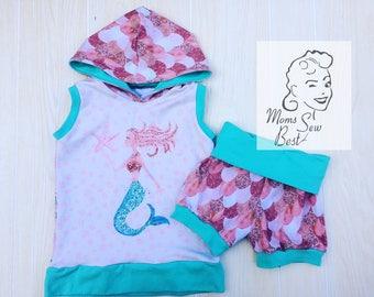 Size 6 Mermaid Shorts and Tank Set