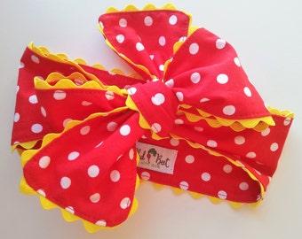 Minnie Bow Headwrap - Baby Girl Headwrap - Baby Girl Headband - Turban Headband - Baby Turban - Bow Headwrap - Baby Bow - Bow Headband