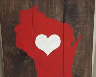 Wisconsin Love Pallet Sign