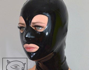 "Latex Rubber Hood Mask ""ULTRA TIGHT"""