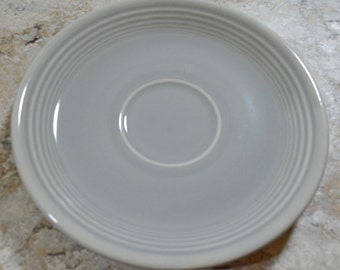 "Fiestaware Fiesta Bread and Butter Plate Gray 6 1/4"" Vintage HLO USA"
